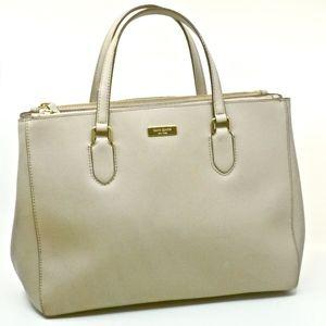 KATE SPADE~saffiano leather~TOTE SHOULDER BAG